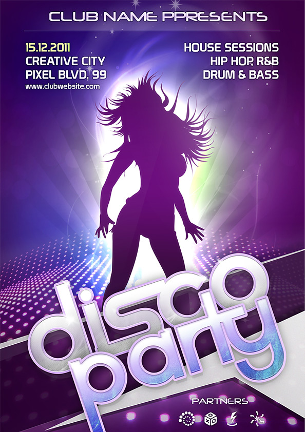night club psd template flyer