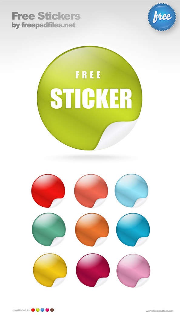 sticker templates psd