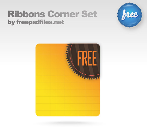 psd ribbon corners template