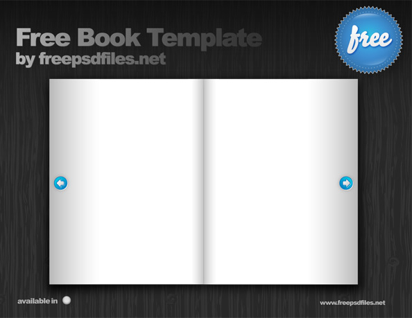 Book PSD Template for free