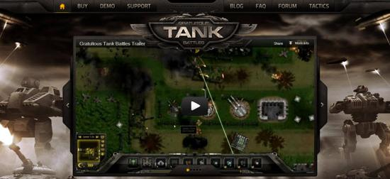 gratutous tank battles gaming website
