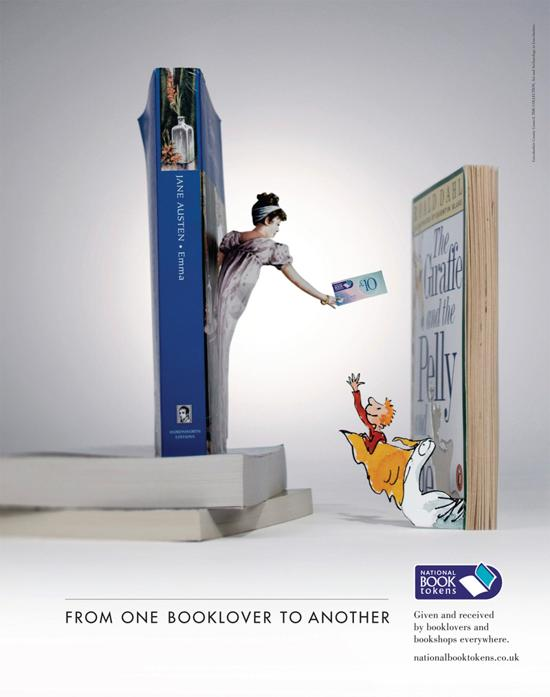 national book tokens! print media advertisement