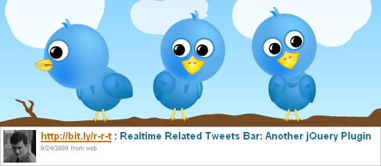 Realtime Related Tweets Bar jquery