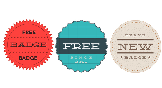 3 retro badge psd templates for free