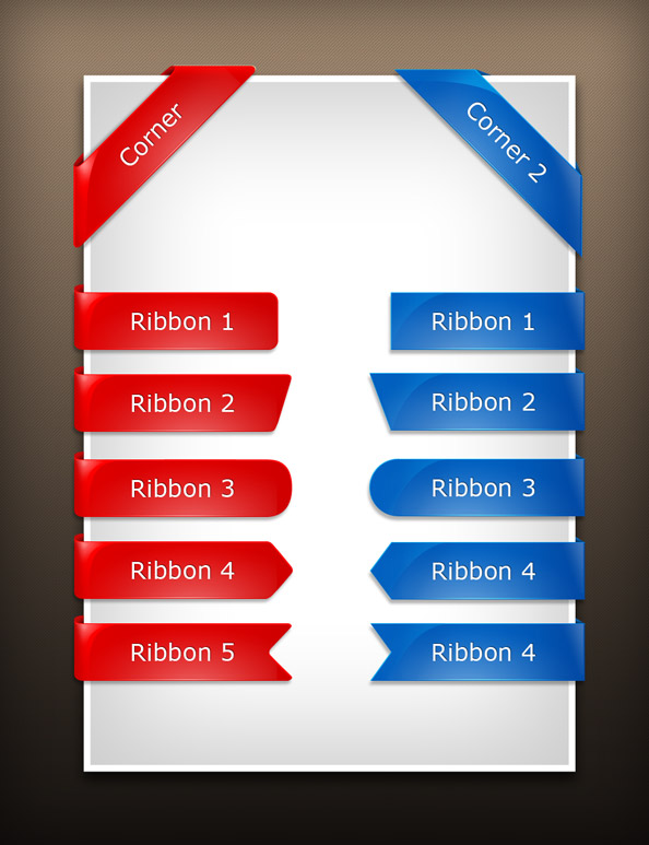 glossy psd ribbons free template