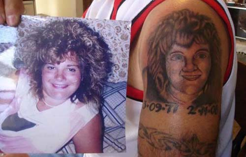 Girl friend Tattoo Fail designs of loved ones