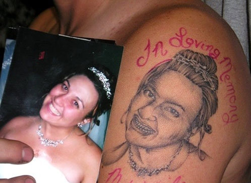 Wife Tattoo Fail designs of loved ones
