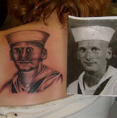 Sailor Tattoo Fail designs of loved ones
