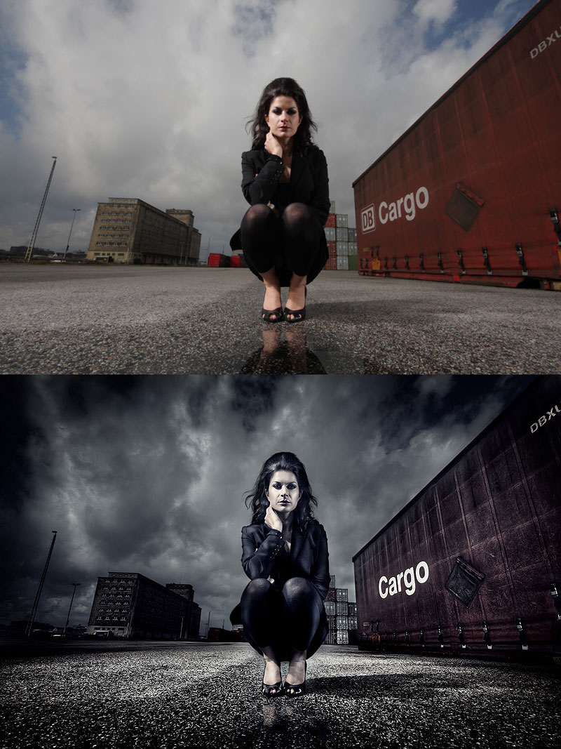 Before and After Photoshoped Photos