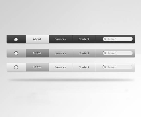Apple Style Navigation PSD menu for free download