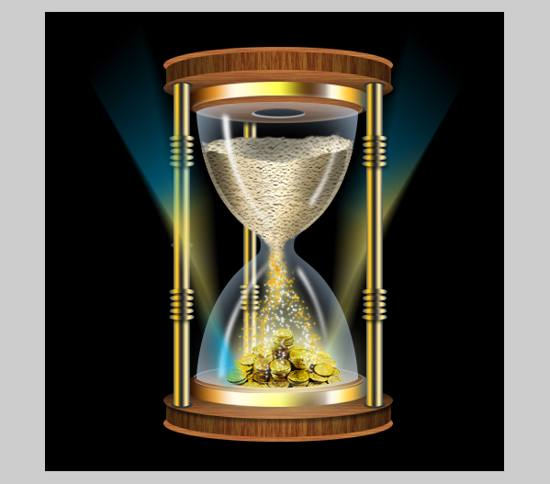 Create A Time Is Money Hour Glass in Photoshop