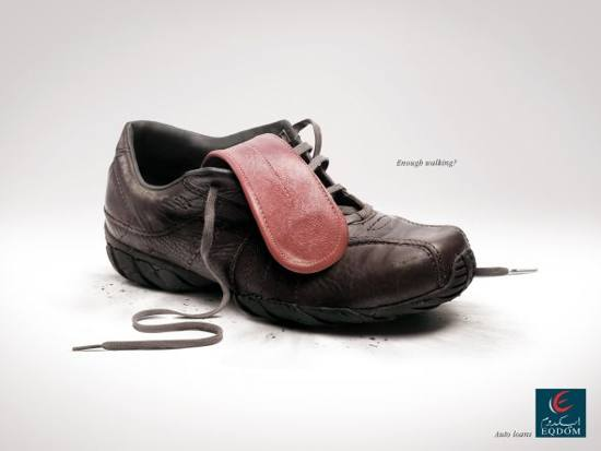 eqdom! shoe: print media advertisement
