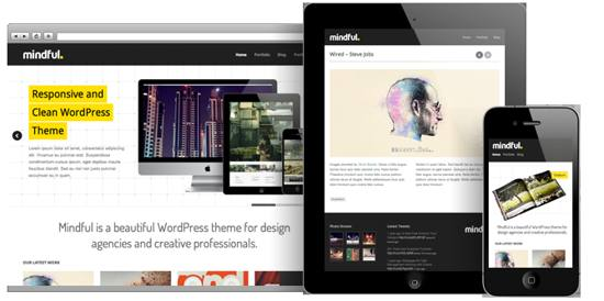 mindful! responsive and clean wordpress theme