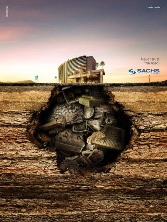 Sachs Clutches! Hotel: print media advertisement