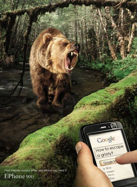 Ephone v900! Bear Trap: print media advertisement