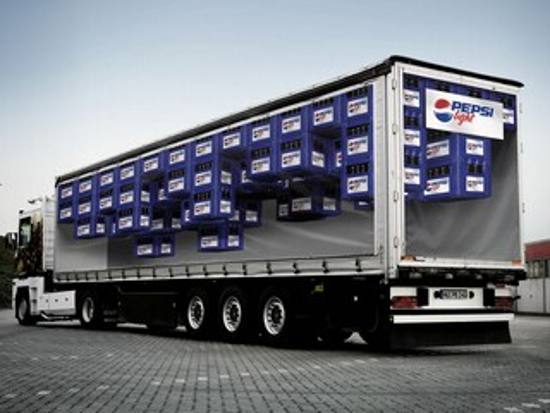 Truck From Pepsi Light: print media advertisement