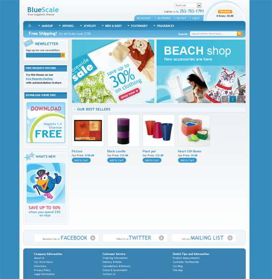Bluescale Magento Template