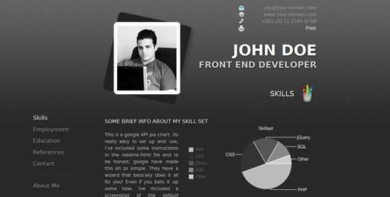 20 free premium wordpress resume cv themes lava360 - Wordpress Resume Template