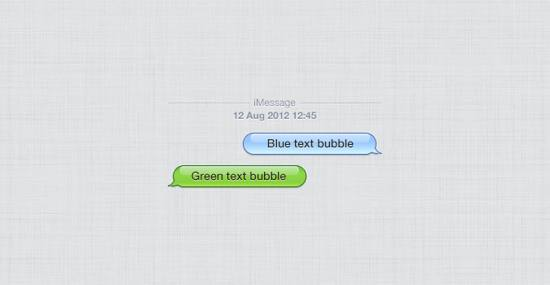 Apple iPhone Chat Bubbles PSD files for free download
