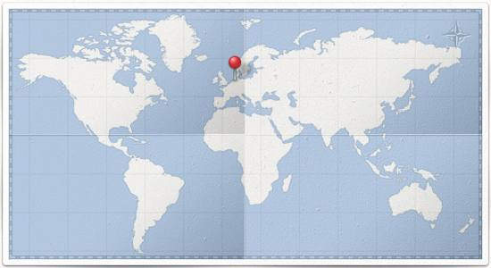 World Map & Pin PSD file for free download