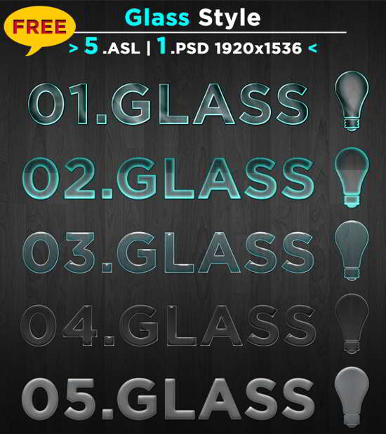 Free Glass photoshop Style