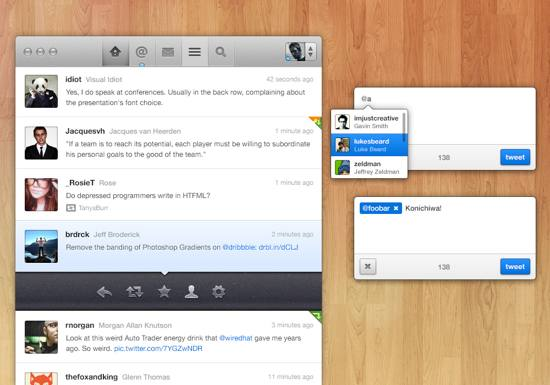Twitter App Concept PSD file for free download