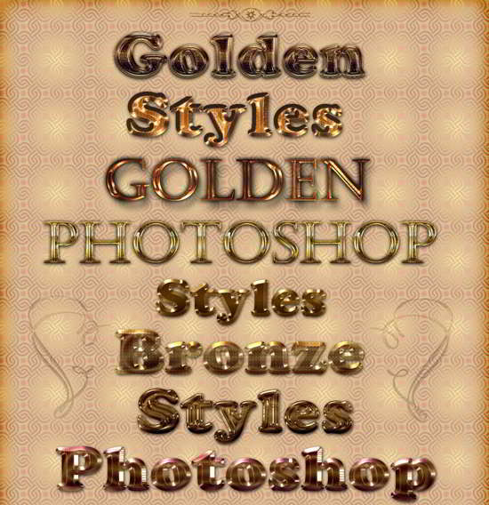 Golden and brilliant photoshop styles