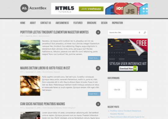 Accentbox HTML5 free Template