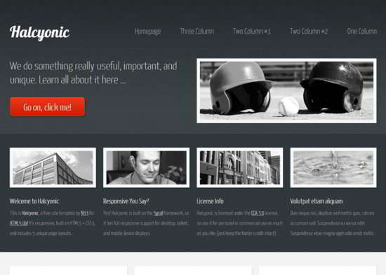 Halcyonic Responsive HTML5 Template