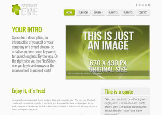 Html5 Template ResponseEve