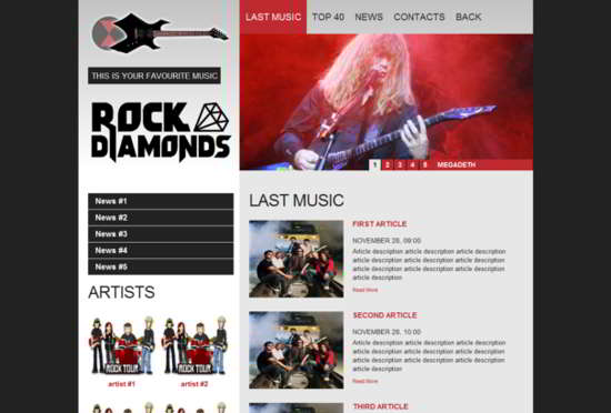 Rock Diamonds HTML5