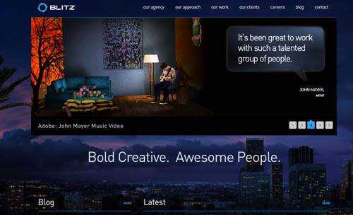 blitzagency blue website