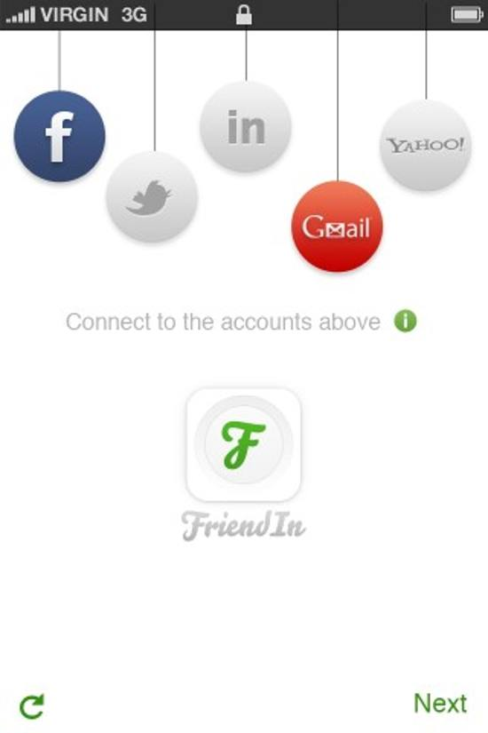 FriendIn! ios app design for designers