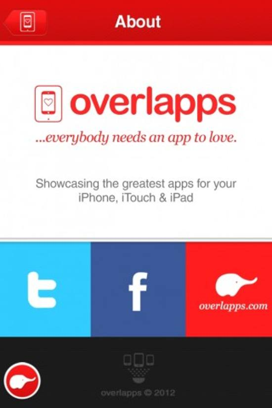 Overlapps! ios app design for designers