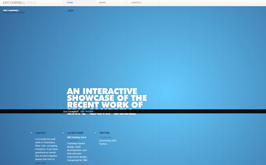 blue coloe website designs