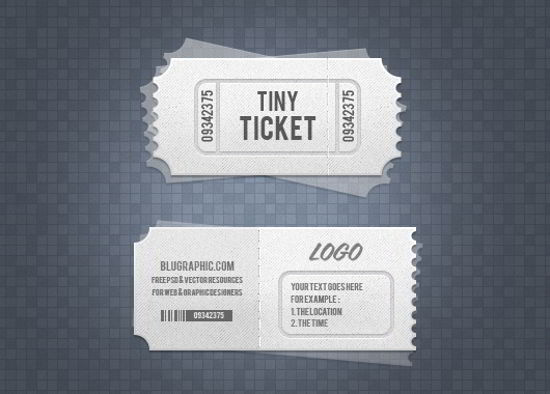 Admission Tickets Psd