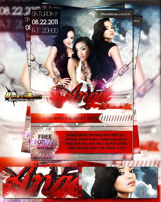 free PSD party flyer