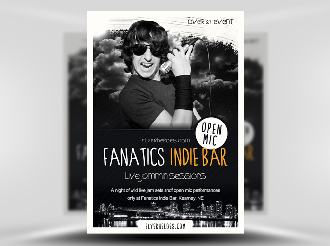 Fanatics Indie Bar Flyer Template