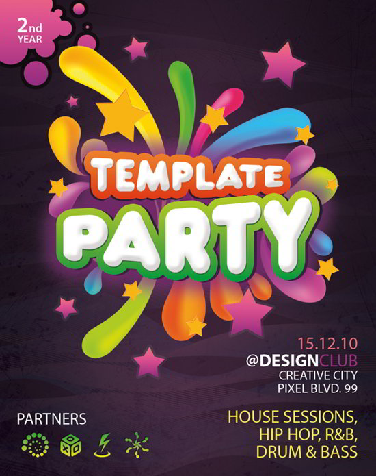 download free psd party flyer template