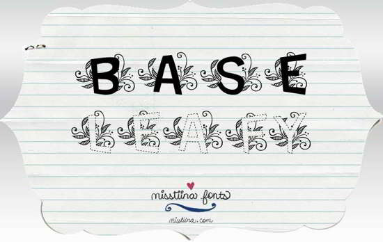 leafy decorative font free download