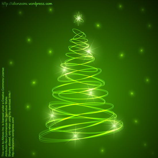 free Abstract Christmas Tree Background