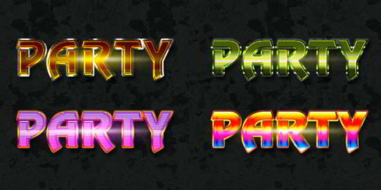 free photoshop party text styles