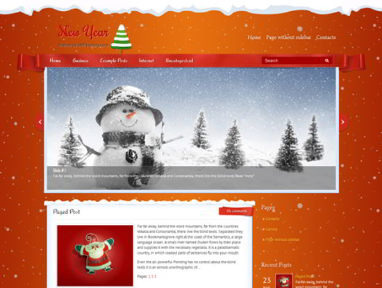 new year wordpress theme 2012