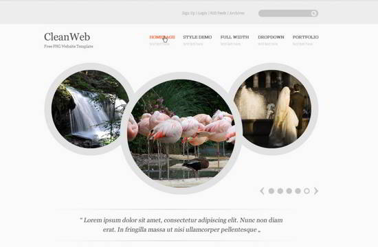 CleanWeb Website Template