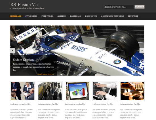Fusion V.1 Website Template