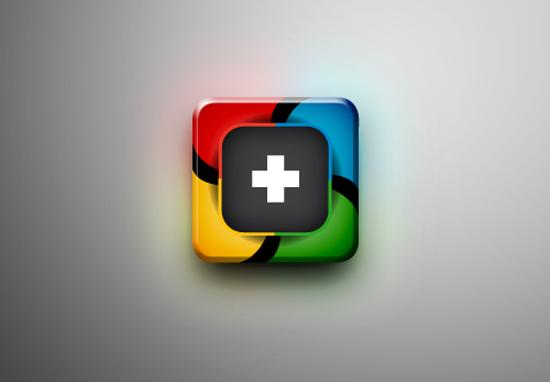 g+ icon design inspiration