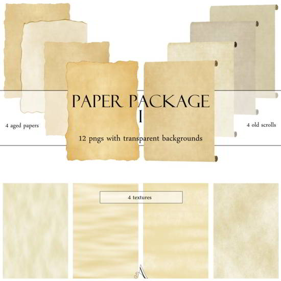 Old Paper pack Vintage Paper Texture Packs