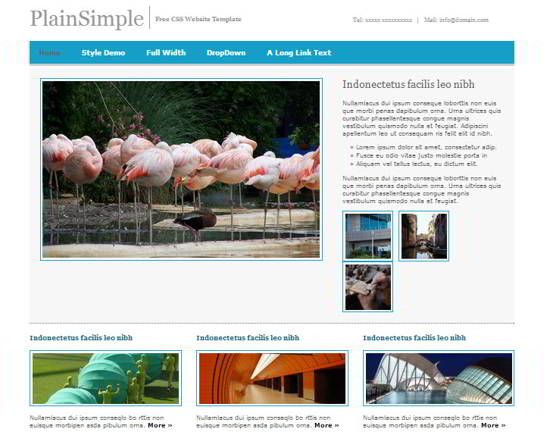 PlainSimple Free Website Template