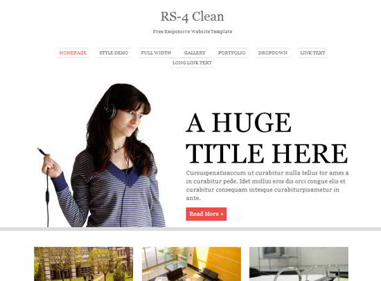 RS-4 Clean Website Template