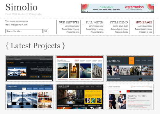 Simolio Free Website Template
